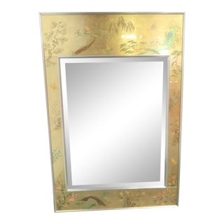 LaBarge Chinoiserie Eglomise Mirror For Sale