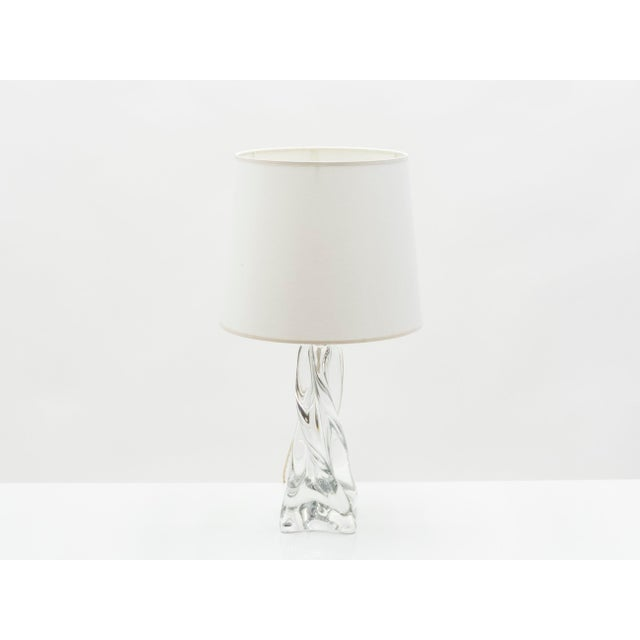 Jean Daum French Crystal Table Lamp 1960s For Sale - Image 6 of 6
