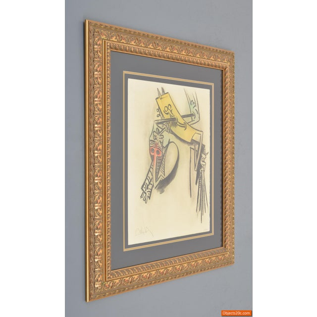 """White Vintage Mid-Century Wifredo Lam """"Monte De Seves"""" Lithograph Print For Sale - Image 8 of 8"""