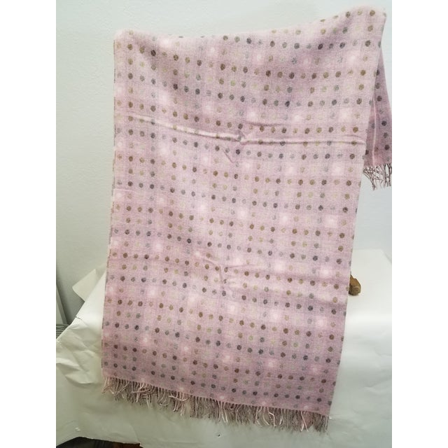 Wool Throw Brown and White Polka Dots on Pink Background - Made in England A versatile throw in a polka dot design. The...
