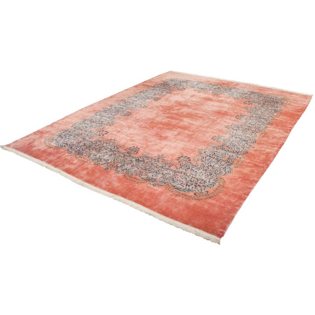 "Vintage Fine Kerman Carpet - 11'3"" X 14'2"" For Sale In New York - Image 6 of 8"