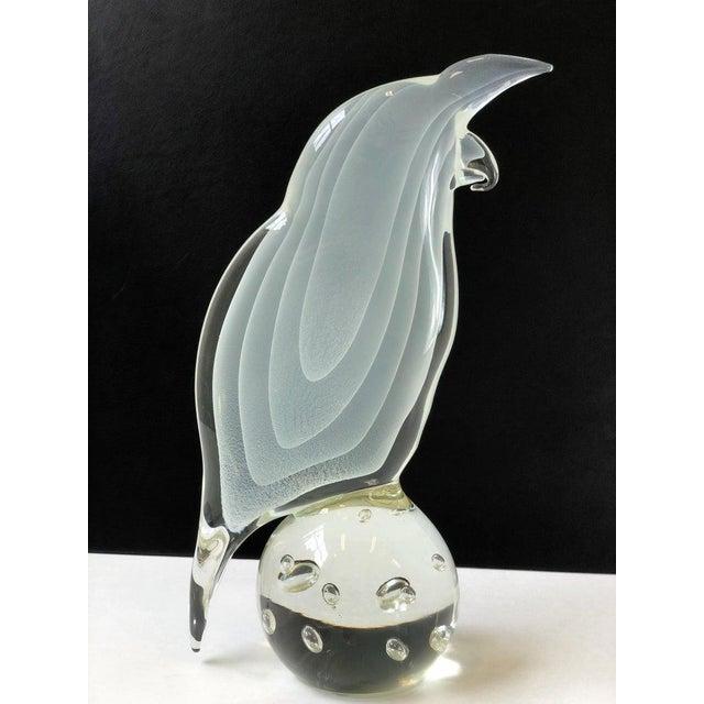 Italian Murano Glass Bird by Licio Zanetti For Sale - Image 9 of 12