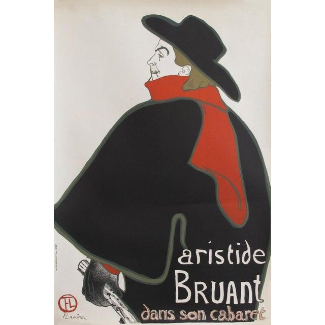 Toulouse-Lautrec 1960s Toulouse Lautrec Poster, Aristide Bruant dans son Cabaret For Sale - Image 4 of 4