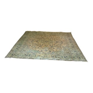 Antique Hand Knotted Mashad Rug - 10' x 13'