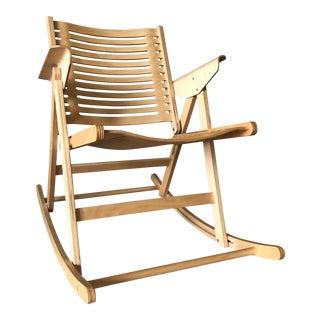 Rex Kralj Rex Beech Natural Rocking Foldable Chair