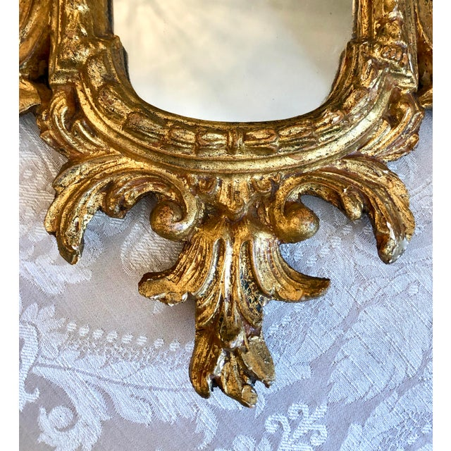 Gold Italian Cornucopia Gilt Wood Mirror, C. 1890-1930 For Sale - Image 8 of 13