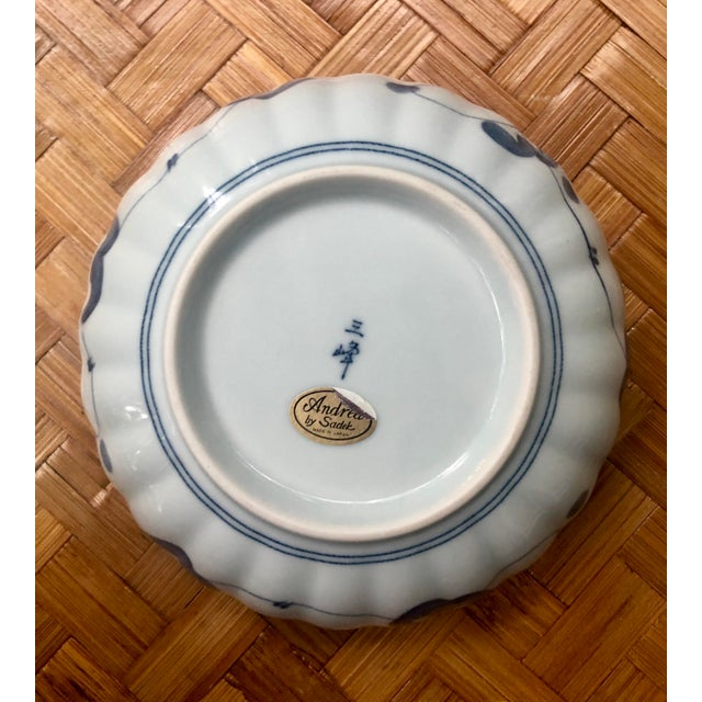 Mid 20th Century Chinese Blue and White Floral Porcelain Bowl For Sale - Image 5 of 7