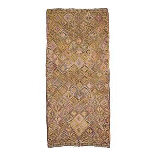 Vintage Embroidered Turkish Kilim Rug For Sale