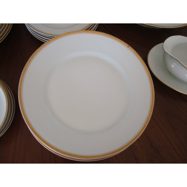 Gold And White Bavaria Dishes - Set of 30 - Image 6 of 11