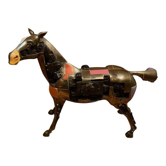 1980s Bronze Trojan Horse For Sale