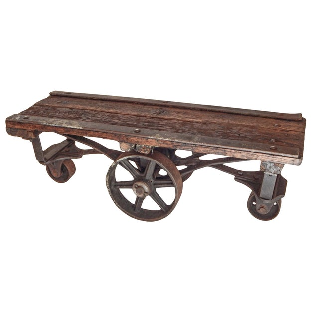Industrial Industrial Trolley Table For Sale - Image 3 of 9
