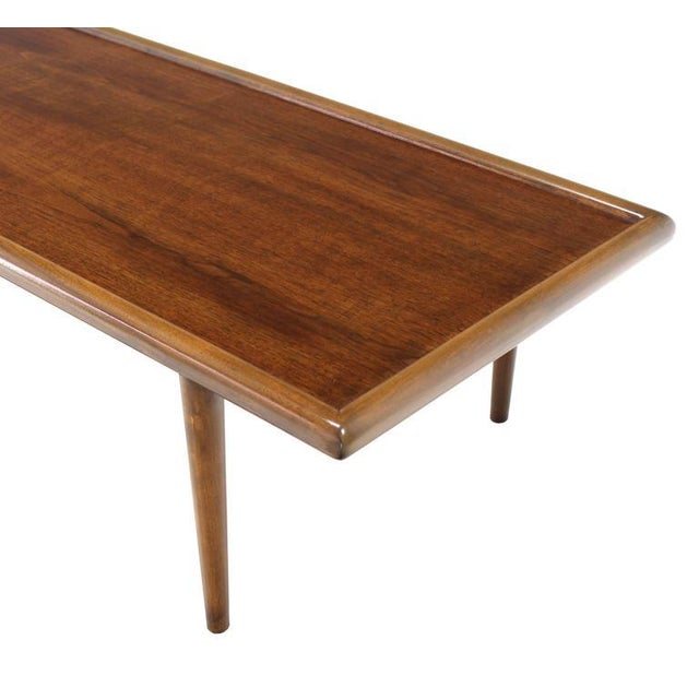 Robsjohn Gibbings for Widdicomb Walnut Coffee Table For Sale In New York - Image 6 of 7