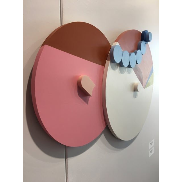 Abstract Angela Chrusciaki Blehm Peek-A-Boob Caramel Wall Sculpture For Sale - Image 3 of 6