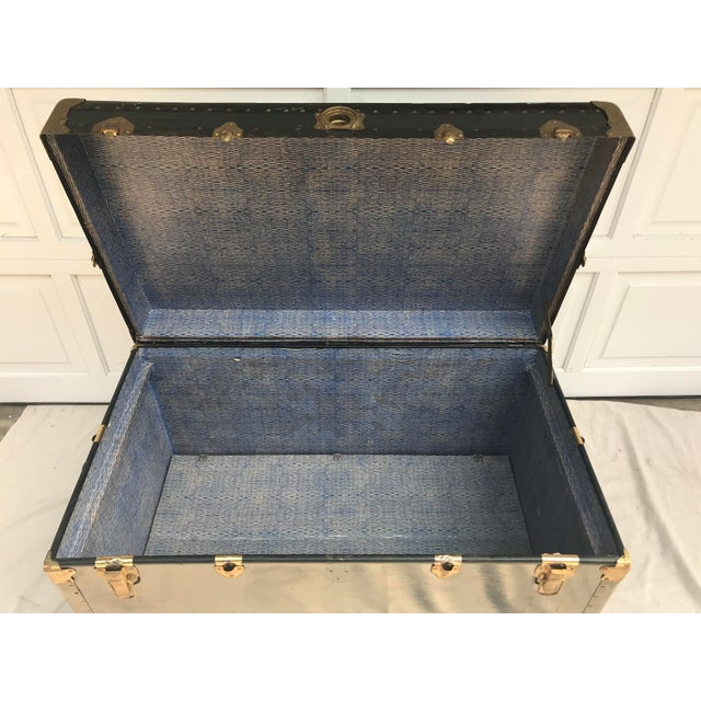 Early 20th Century Early 20th Century XL Antique American Trunk For Sale - Image 5 of 8
