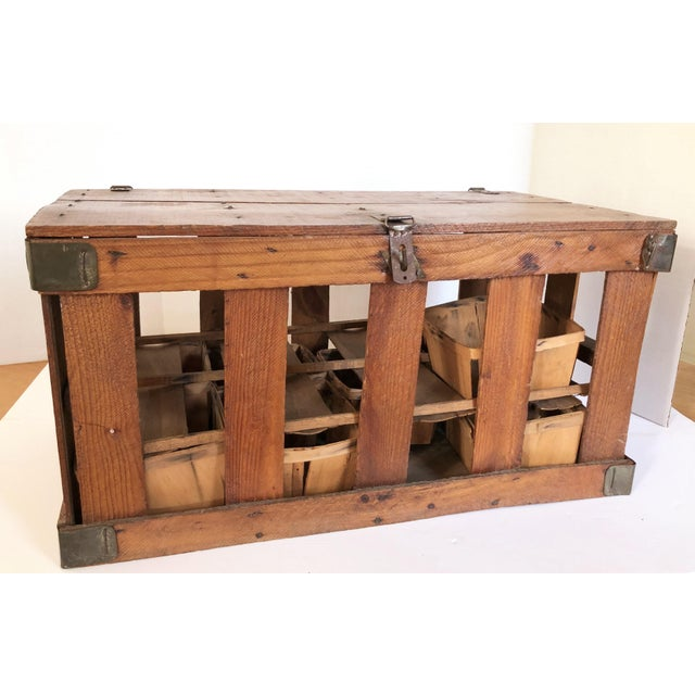 Rustic European Antique French Berry Crate For Sale - Image 3 of 6
