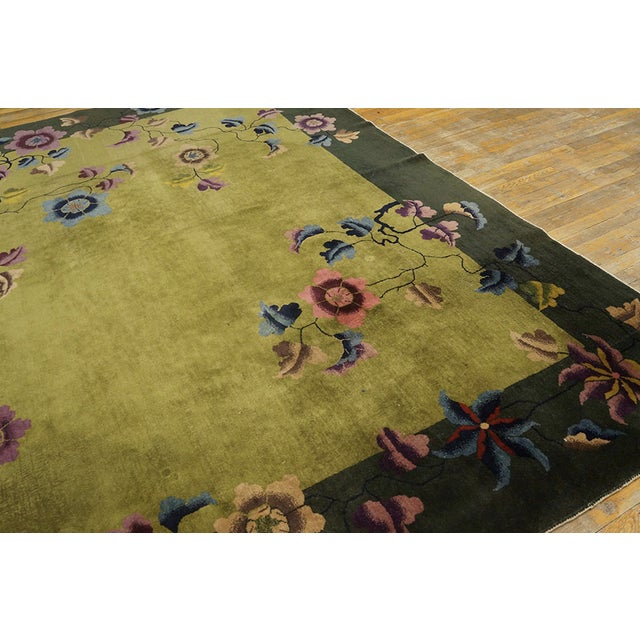 Textile Antique Chinese Art Deco Rug For Sale - Image 7 of 13