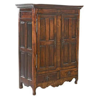 Early 19th Century Rustic Armoire Cabinet For Sale
