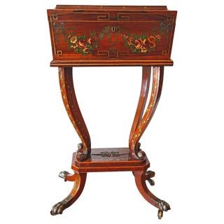 19th Century Regency Rosewood Workbox For Sale