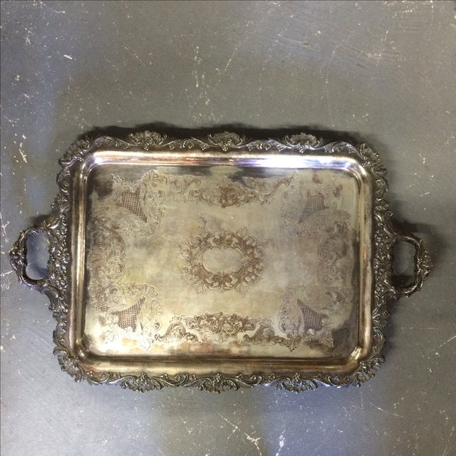 Silver Plate Tray - Image 2 of 7