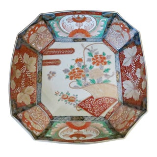 Late 19th Century Vintage Japanese Meiji Imari Porcelain Bowl For Sale
