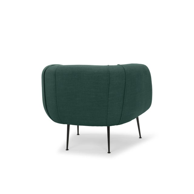 Dark Green Sepli Accent Chair For Sale - Image 4 of 6