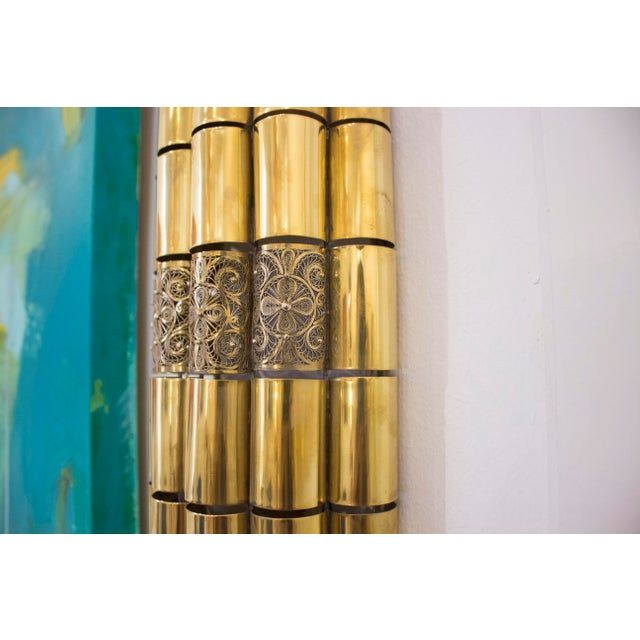 Moroccan Brass Filligree Sconce For Sale In New Orleans - Image 6 of 6