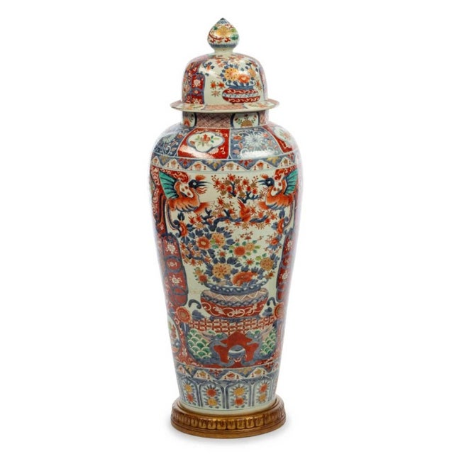 Asian Japanese Imari Porcelain Covered Jars - a Pair For Sale - Image 3 of 12