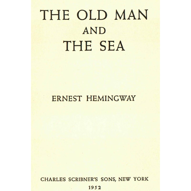 an outline of the old man and the sea by ernest hemingway Hemingway's pulitzer prize-winning classic the old man and the sea is one of hemingway's most enduring works told in language of great simplicity and power, it is the story of an old cuban fisherman, down on his luck, and his supreme ordeal -- a relentless, agonizing battle with a giant marlin.