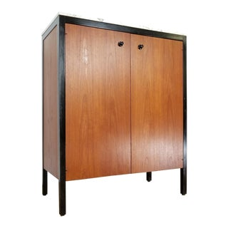 1960s Mid Century Modern George Nelson for Herman Miller Marble Top Cabinet For Sale