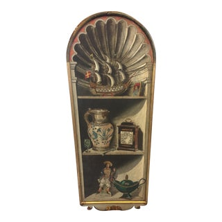 Vintage 1960s Italy Wooden Panel For Sale