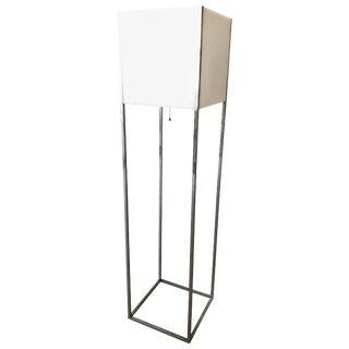 Paul Mayen Lucite and Chrome Floor Lamp for Habitat For Sale