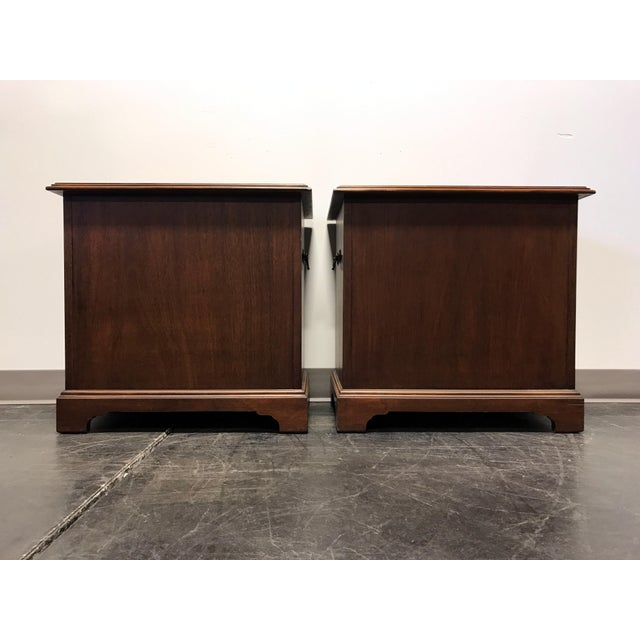 Mahogany Chippendale Bedside / Chairside Chests - Pair - Image 7 of 11