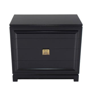 Vintage Mid-Century Black Lacquered 4-Drawer Bachelor Chest Preview