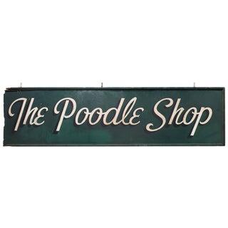 1950s Poodle Shop Sign For Sale