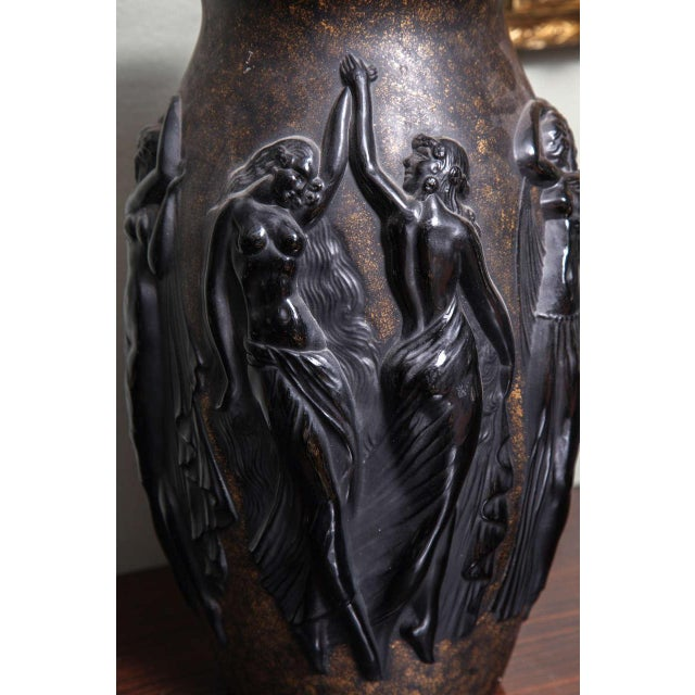Brown Art Deco Vase by Sabino For Sale - Image 8 of 9