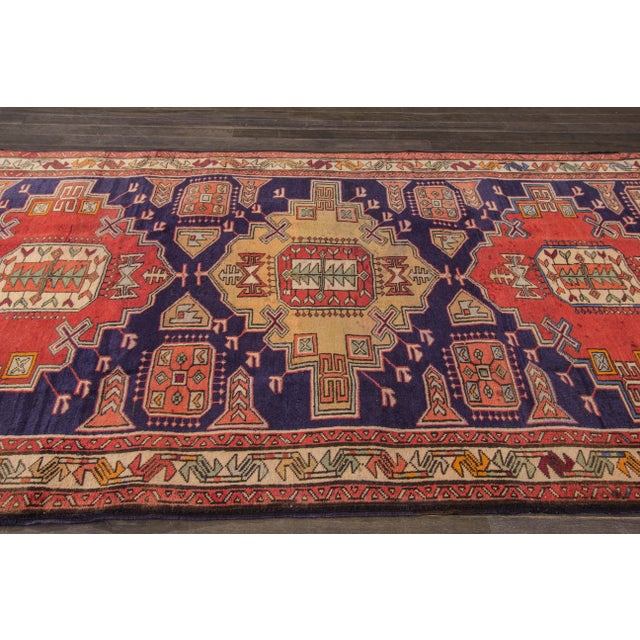 "Apadana Persian Hand Knotted Runner Rug - 5'1"" X 9'9"" - Image 3 of 7"