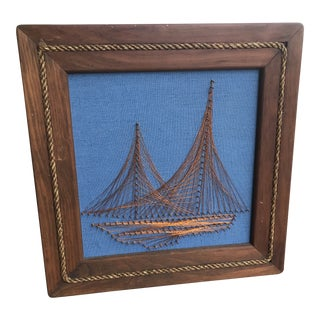 Vintage Nautical Copper Wire Art For Sale