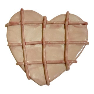 Grid Ceramic Wall Heart For Sale