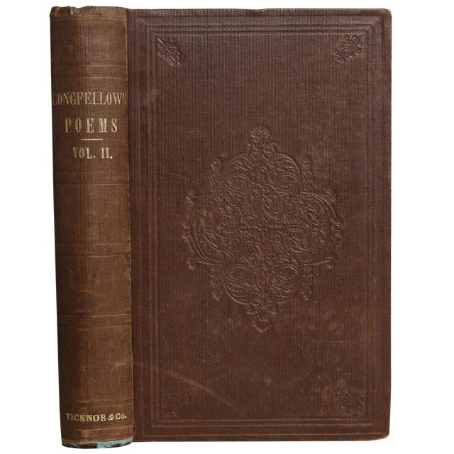 """1856 """"Poems Vol. Ii"""" Collectible Book For Sale"""