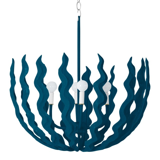 Stray Dog Designs for Chairish Chucho Chandelier, Deep Blue For Sale