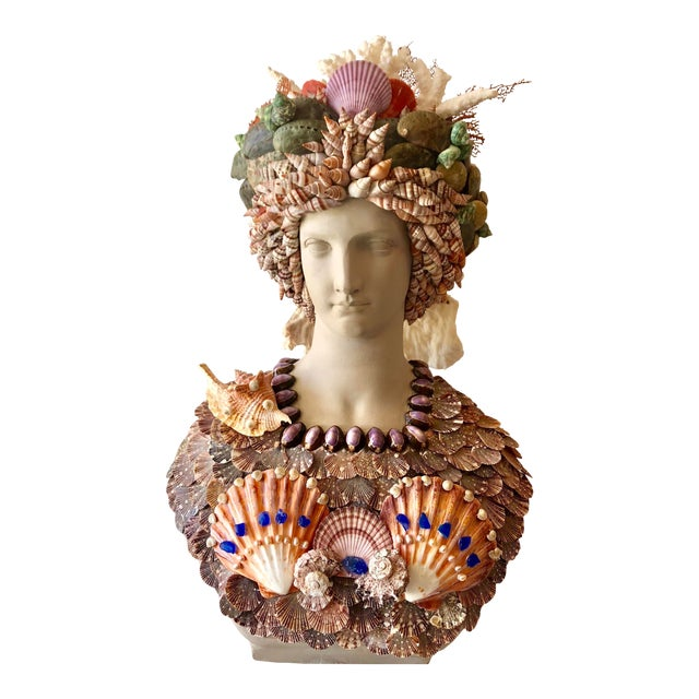 Organic Renaissance Seashell Bust For Sale