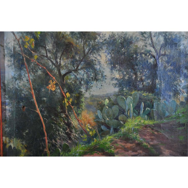 Italian Italian Countryside Landscape C.1900 Oil Painting For Sale - Image 3 of 9