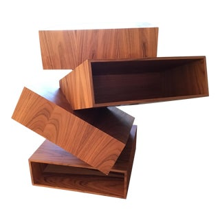 Contemporary Balancing Boxes Side Table For Sale