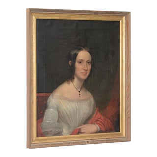Mid to Late 19th Century Portrait of an Elegant Young Woman