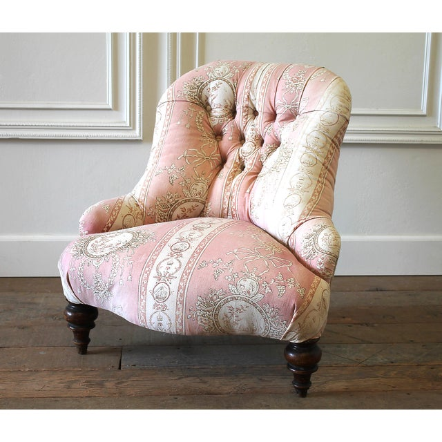 Napoleon III 19th Century Napoleon III Button Tufted Chair For Sale - Image 3 of 12