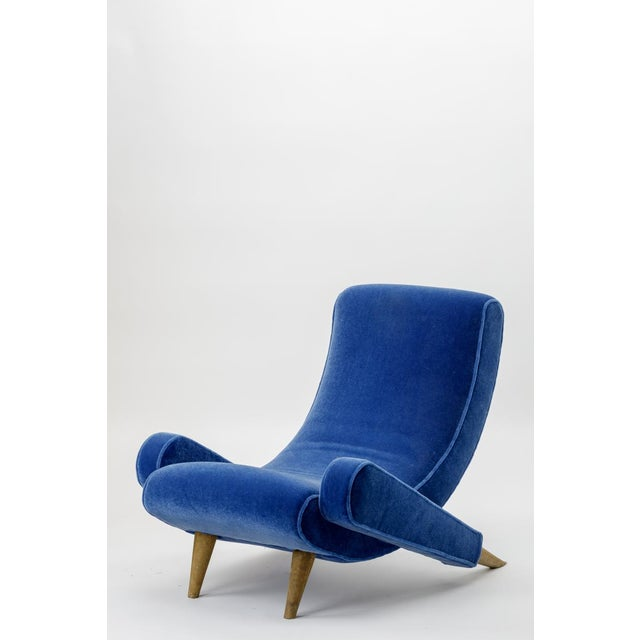 "Jean Royere Stunning Documented Pair of Lounge Chairs Model ""Varsano"" For Sale - Image 6 of 13"