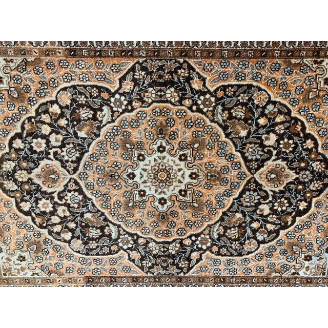 "1900 - 1909 Antique Persian Tabriz Hajijalili Rug - 4'1""x5'6"" For Sale - Image 5 of 12"