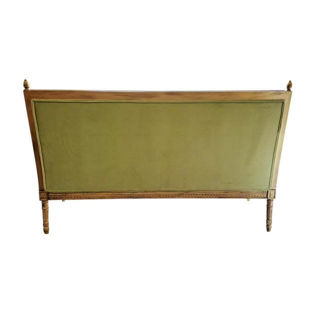 1980s Green French Style Settee For Sale - Image 5 of 6