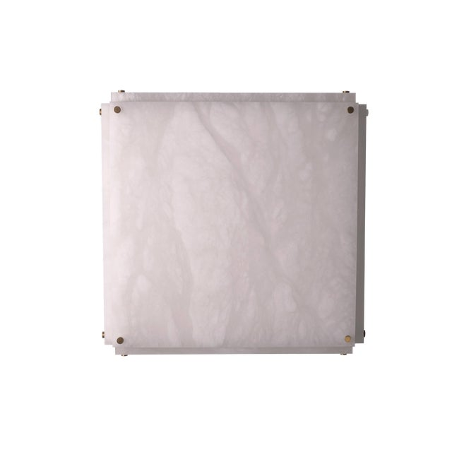 Modern Contemporary 001a Flush Mount in Alabaster by Orphan Work For Sale