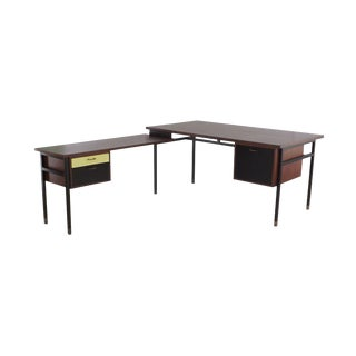 "Mid-Century Danish Modern ""L"" Shaped Desk, Practa Copenhagen Denmark For Sale"